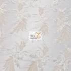 Angel Wings Floral Lace Sequins Fabric Ivory