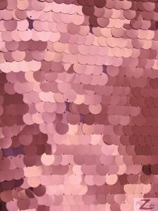 Matte Pink Big Dot Sequins Mesh Fabric