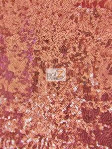 Mini Disc Sequin Nylon Mesh Fabric Dusty Rose