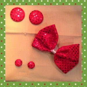 Red Small Dot Confetti Sequins Fabric