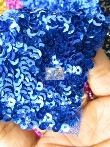 Scale Sequins Mesh Fabric Close Up