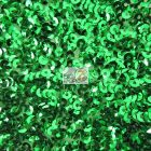 Scale Sequins Mesh Fabric Kelly Green