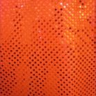 Small Confetti Dot Sequin Fabric Neon Orange