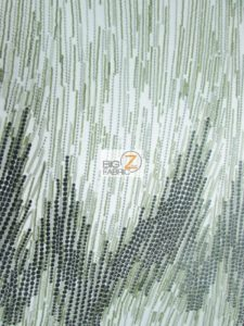 Frozen Premiere Zig Zag Sequins Fabric Olive