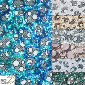 Circular Bombshell Sequins Lace Fabric