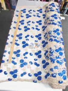 Lovely Roses Floral Sequins Lace Fabric
