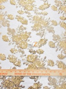 Lovely Roses Floral Sequins Lace Fabric Measurement