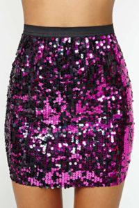 Reversible Mermaid Sequin Skirt