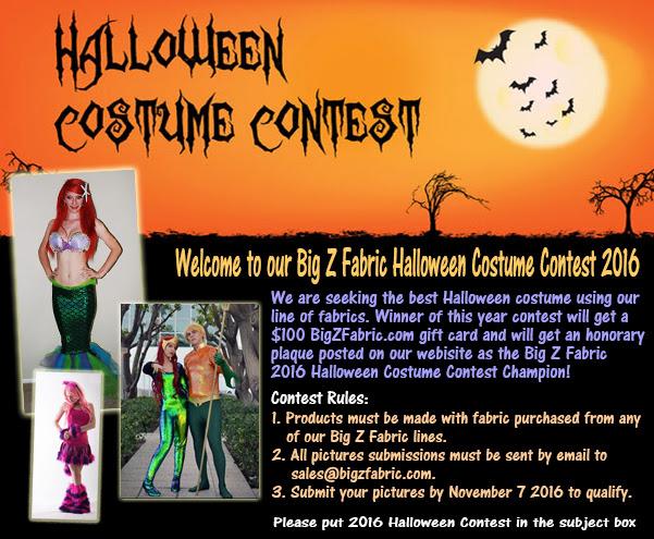 Big Z Fabric Halloween Sequins Costume Contest