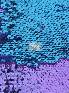 Reversible Sequins Mermaid Fabric Purple/Turquoise