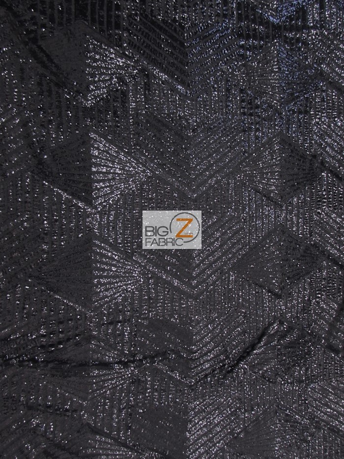 Black Cosmic Geometric Sequins Fabric