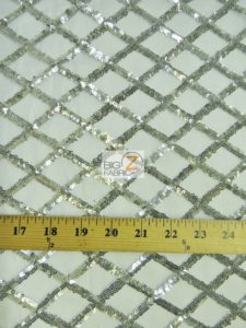 Diamond Lattice Sequins Mesh Fabric Measurements