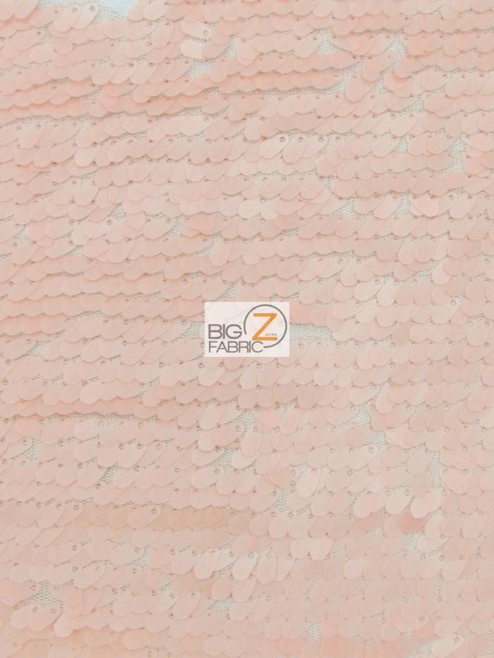 Matte Pink Drop Sequins Fabric