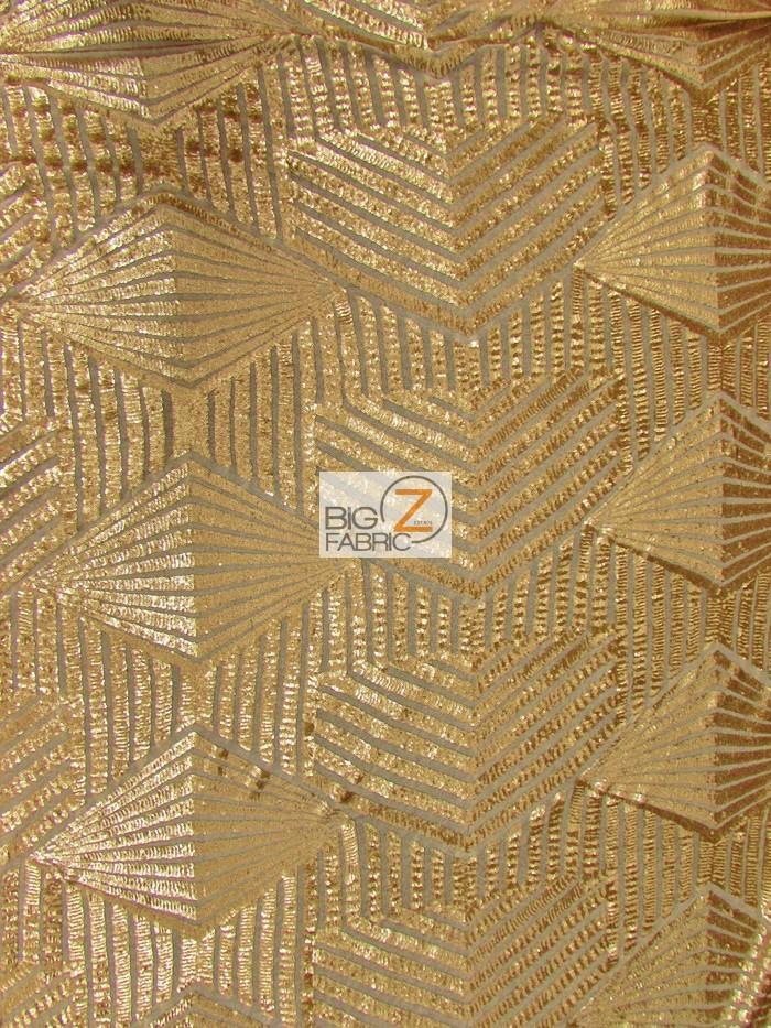 Gold Cosmic Geometric Sequins Fabric
