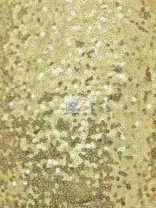 Mini Disc Sequin Mesh Fabric Golden Yellow