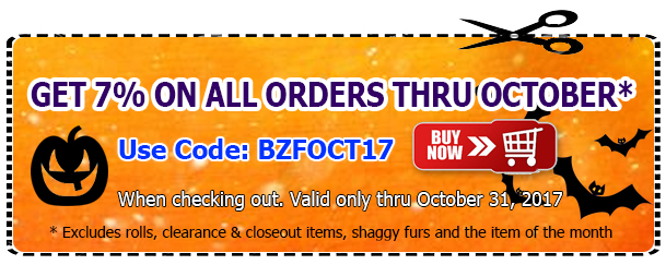 Big Z Fabric October Discount