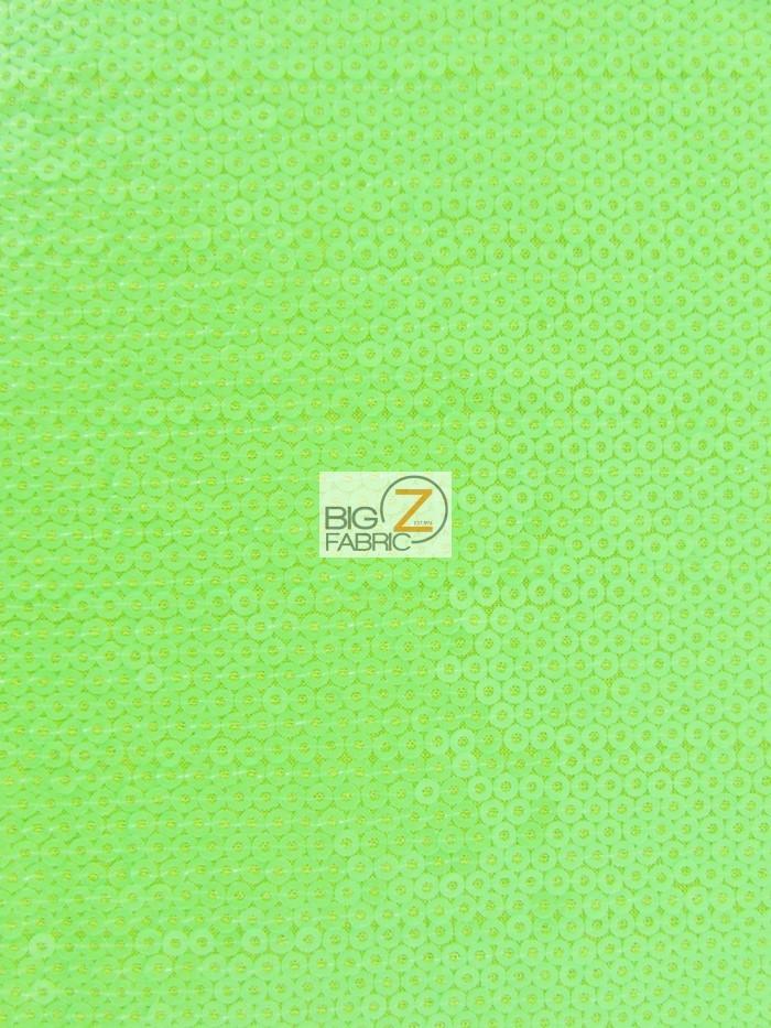 Lime Micro Disc Paillettes Sequin Spandex Fabric