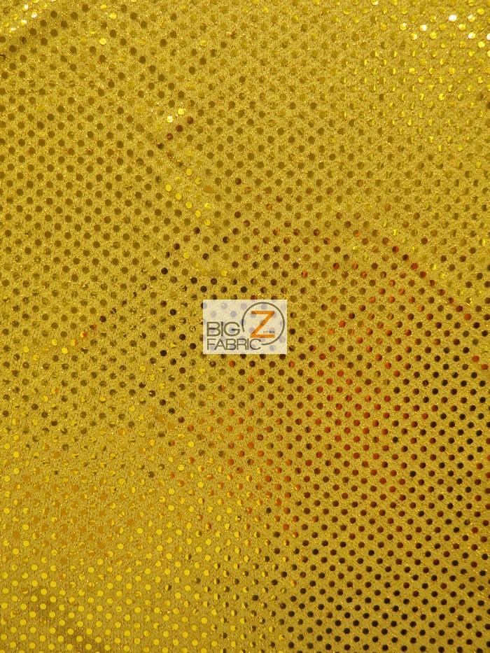 Dark Gold Small Confetti Dot Sequins Fabric