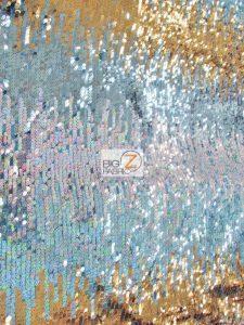 Moon Shadow Sequin Fabric Multi Color Blue