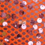 Ariel Fishnet Nylon Sequin Fabric
