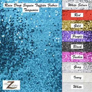 Rain Drop Sequin Taffeta Fabric
