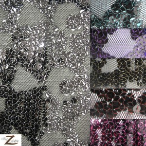 Bella Sequin Polyester Mesh Fabric