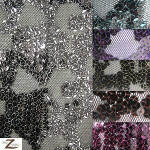 Bella Sequin Polyester Mesh Fabric