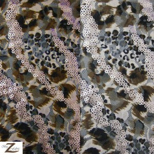 Blaze Sequin Poly Spandex Fabric