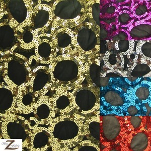 Circle Sequin Nylon Spandex Fabric