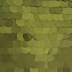Big Dot Sequin Mesh Fabric Matte Olive