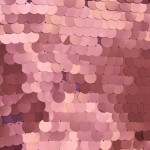 Big Dot Sequin Mesh Fabric Matte Pink