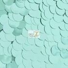 Big Dot Sequin Mesh Fabric Shiny Mint