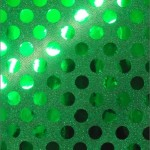 Big Polka Dot Sequins Fabric Kelly Green