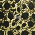 Circle Sequins Nylon Spandex Fabric Gold