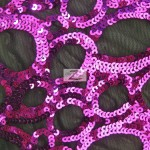 Circle Sequins Nylon Spandex Fabric Purple