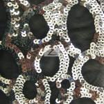 Circle Sequins Nylon Spandex Fabric Silver