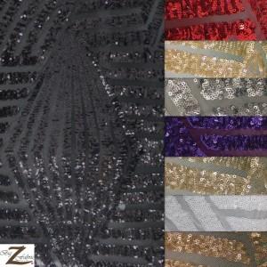 Cosmic Mini Disc Sequin Mesh Fabric