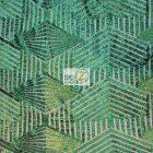 Cosmic Mini Disc Sequins Mesh Fabric Green