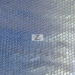 Delight Sequins Mesh Fabric Silver