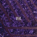 Cosmic Mini Disc Sequins Mesh Fabric Purple