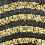 Curvy Nylon Sequins Fabric Gold