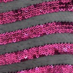 Curvy Nylon Sequins Fabric Magenta