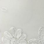 Dahlia Flower Sequins Mesh Fabric White