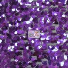 Drop Sequins Fabric Shiny Eggplant