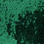 Drop Sequins Fabric Hunter Green