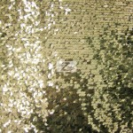 Drop Sequins Fabric Light Gold