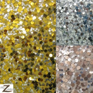 2 Tone Micro Disk Sequins Mesh Fabric