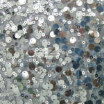 2 Tone Micro Disk Sequins Mesh Fabric Charcoal Silver