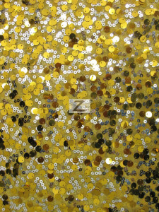 2 Tone Micro Disk Sequins Mesh Fabric Gold Silver