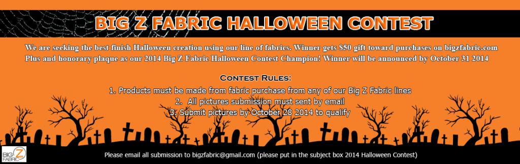 2014 Big Z Fabric Halloween Contest